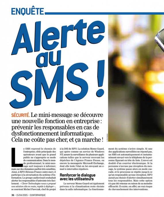 Alerte aux SMS | Alerter par texto
