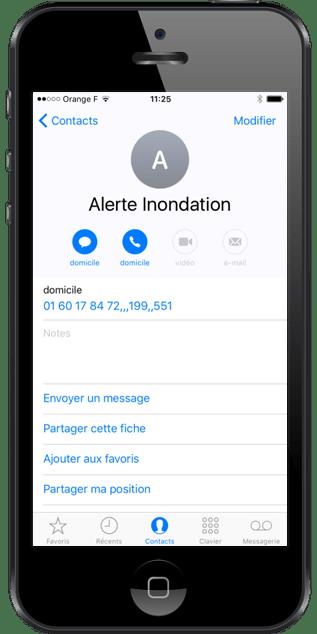 Declencher une alerte inondation depsui un smartphone